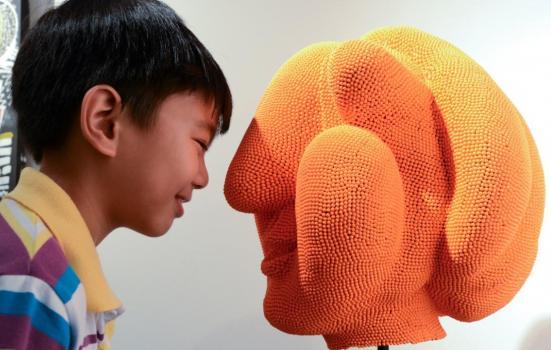 Image of orange head and boy