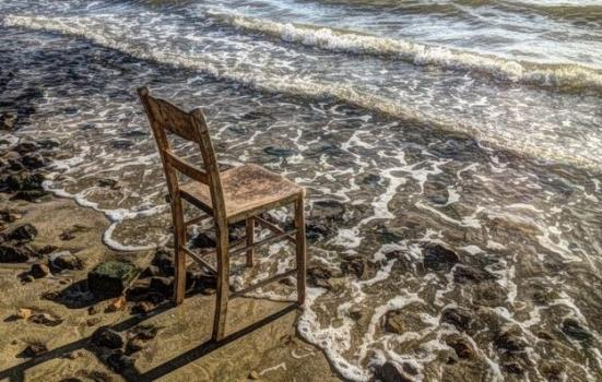 Chair by the seashore