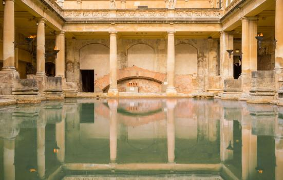 Photo of a Roman Bath