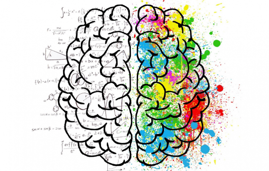 """A visual representation of how the left side and right side of the brain """"work"""""""