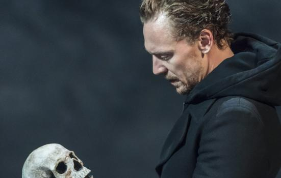 Photo of actor with skull