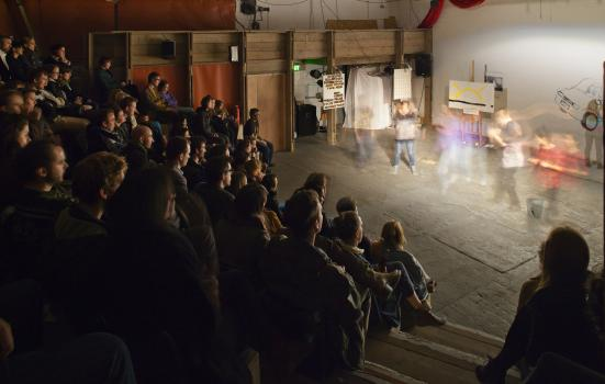 Photo of audience watching a show