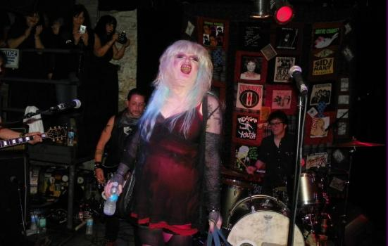 A photo of a punk performance by Jayne County