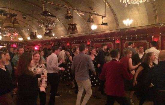 People dancing at a Jive Party event in London