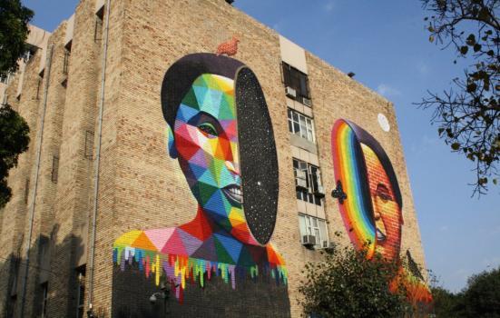 Photo of street art in Delhi