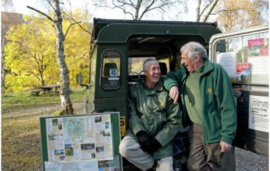 Photo of two National Trust membership recruiters