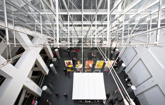 A photo of the atrium of the Museum of Fine Arts in Montreal