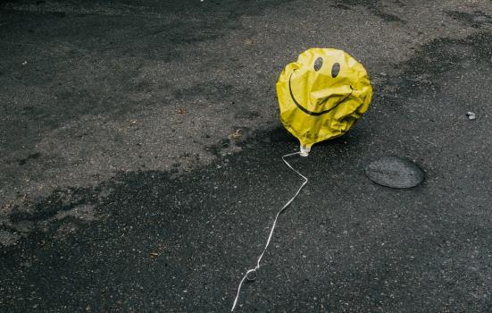 Deflated balloon
