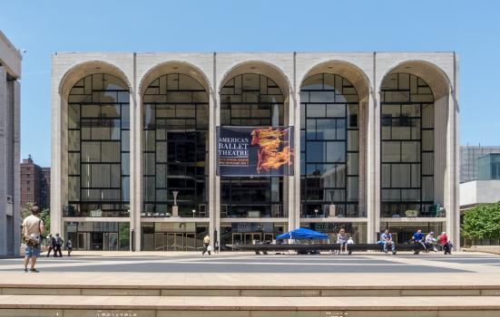 Exterior of the New York Metropolitan Opera house