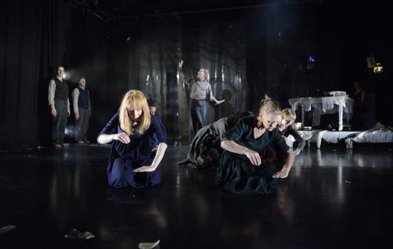 Image of dancers in 'Once upon a time in the dark, dark wood'