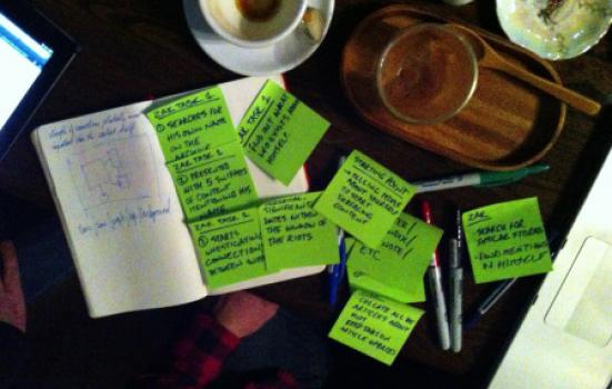 Image of post-its from collaboration session