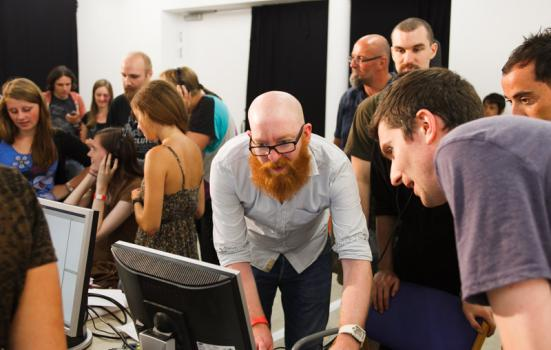 Image of Raspberry Pi workshop at Wysing Arts