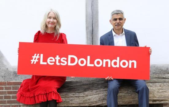 image of Justine Simons and London Mayor Sadiq Khan
