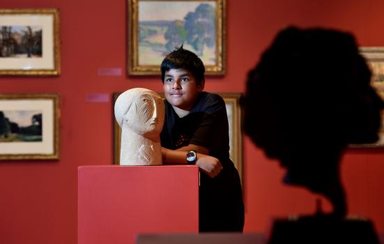 Photo of boy in gallery
