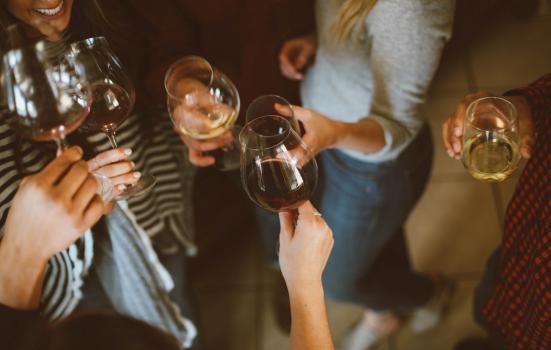 Photo of wine tasting evening