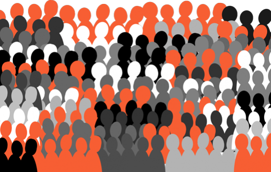 Graphic of a crowd of people