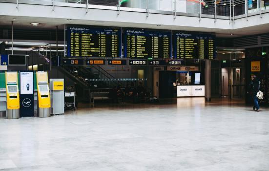 Departure board in Germany