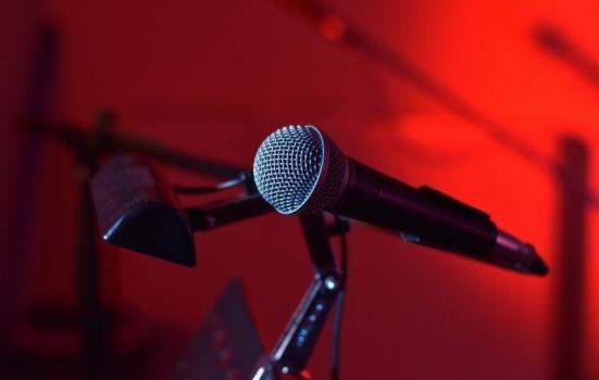 A close up shot of a microphone