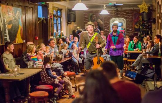 Photo of arts event in a pub