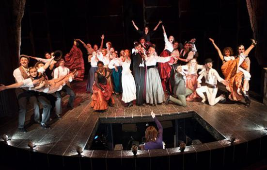Photo of cast of musical theatre