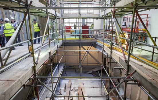 Image of atrium staircase at Lyric Hammersmith