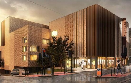 Artist's impression of new theatre building