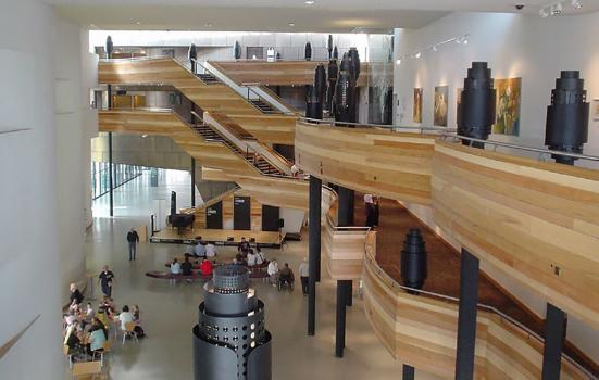 the foyer of Wales Millennium Centre