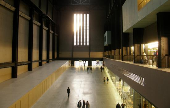 Tate Modern taken from inside the hall