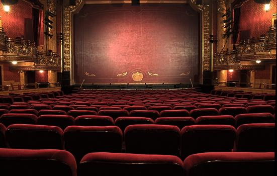 A photo of an empty theatre auditorium