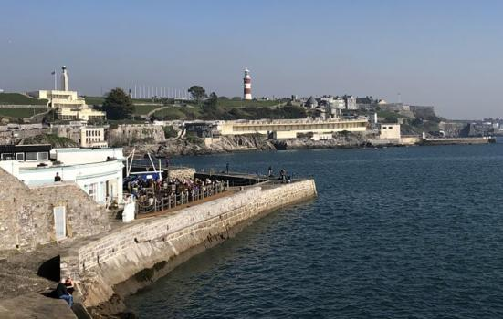 Plymouth Hoe from the sea