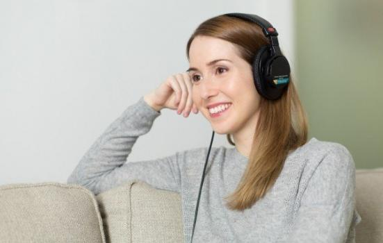 Photo of woman with headphones