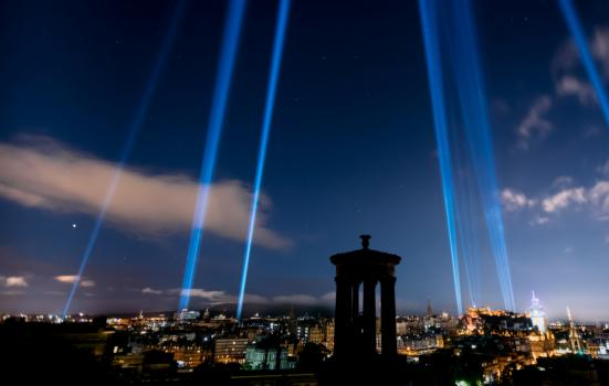 My Light Shines on laser beams