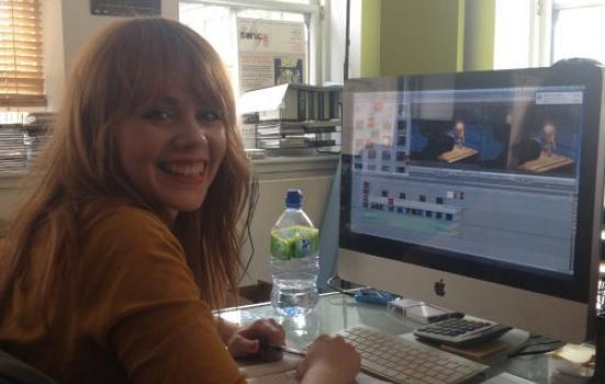 Julia Martin interning at Cryptic