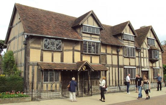Photo of the house where Shakespeare was born