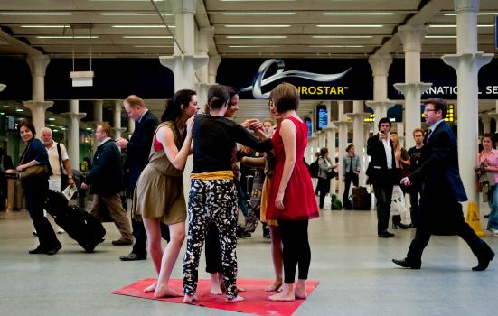 Performance in St Pancras station
