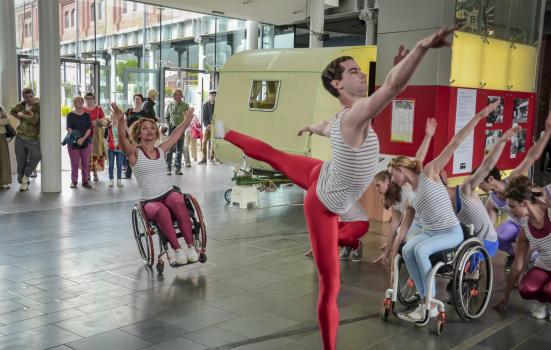 Photo of a performance at Swansea's National Waterfront Museum