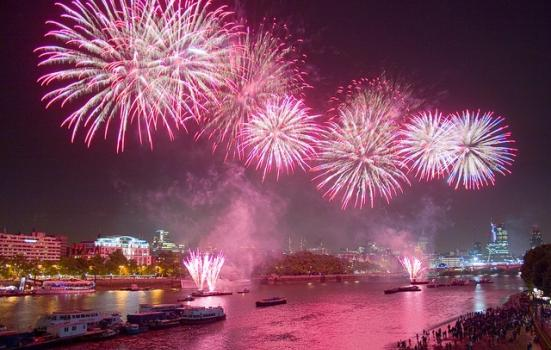 Photo of fireworks over Thames