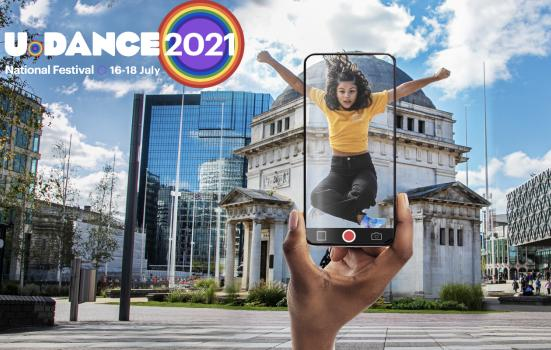 Promotional poster for the National Youth Dance Festival 2021