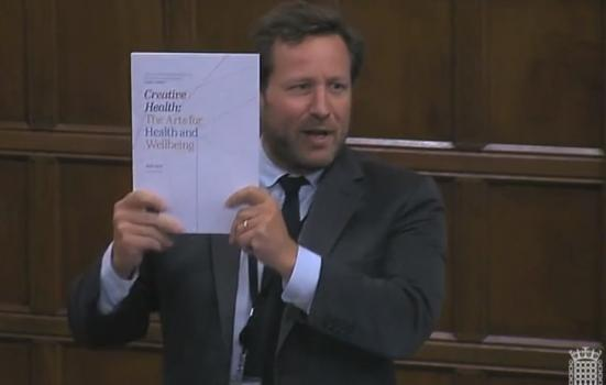 Photo of Ed Vaizey with report