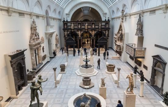 A photo of a gallery at the Victoria and Albert Museum