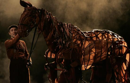 A photo from the production of Warhorse