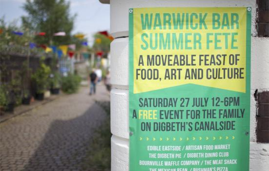 Image of Warwick Bar fete poster