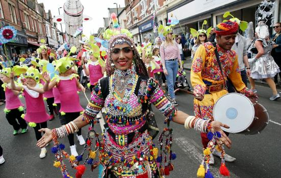 Local musicians/performers at the 2019 Whitley Bay Carnival