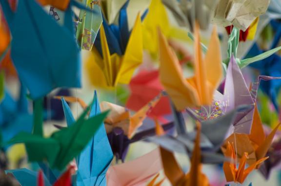 Photo of peace crane