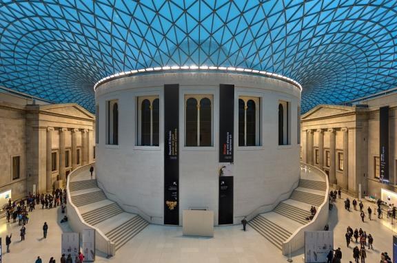 Photo of courtyard in the British Museum