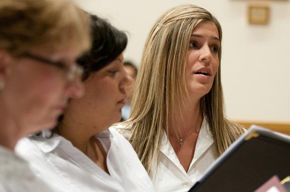 A photo of a choir