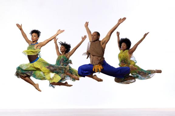 Photo of EVIDENCE DANCE COMPANY in New Conversations featuring Annique Roberts, Courtney Paige, Ross Keon Thoulouis & Shayla Caldwell