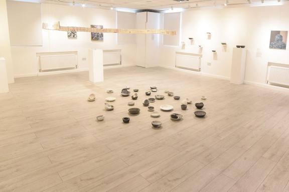 Photo of a gallery displaying bowls