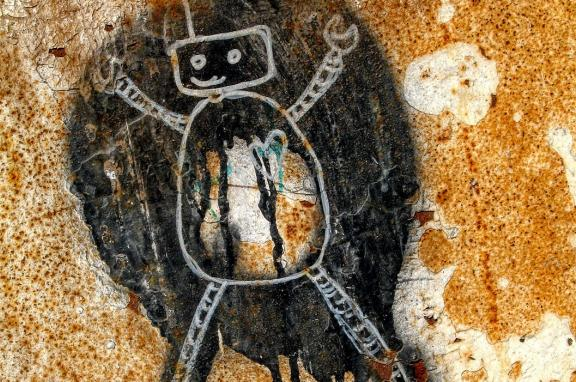 Graffiti of a robot