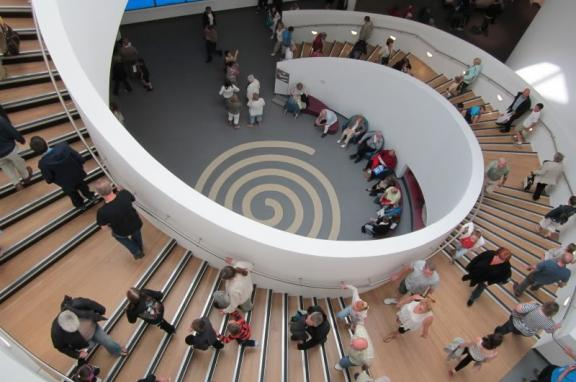 Photo of spiral staircase in museum
